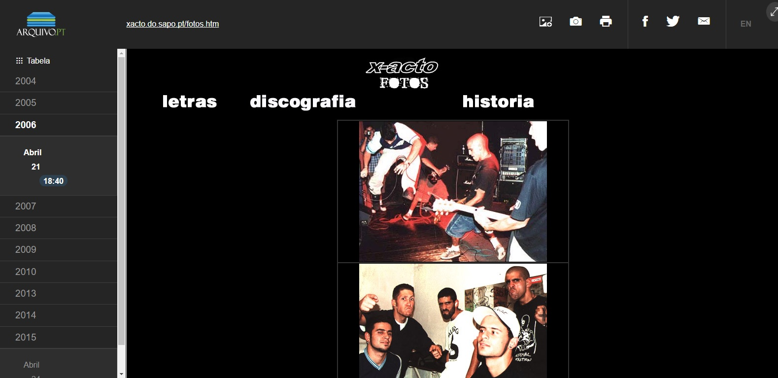 The Study of punk culture through the Portuguese Web Archive